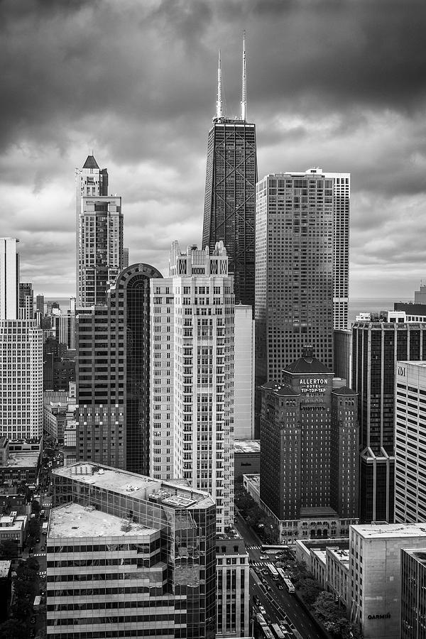 3scape Photograph - Streeterville From Above Black And White by Adam Romanowicz