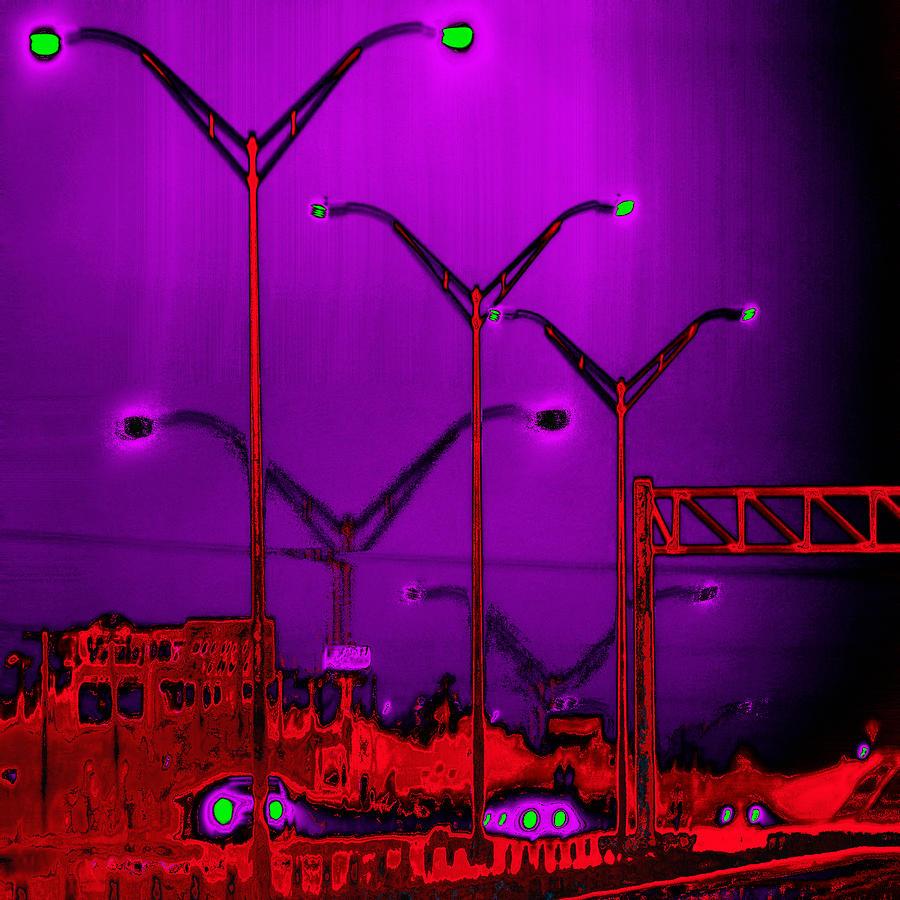 Streetlight Digital Art - Streetlight Serenade 6 by Wendy J St Christopher