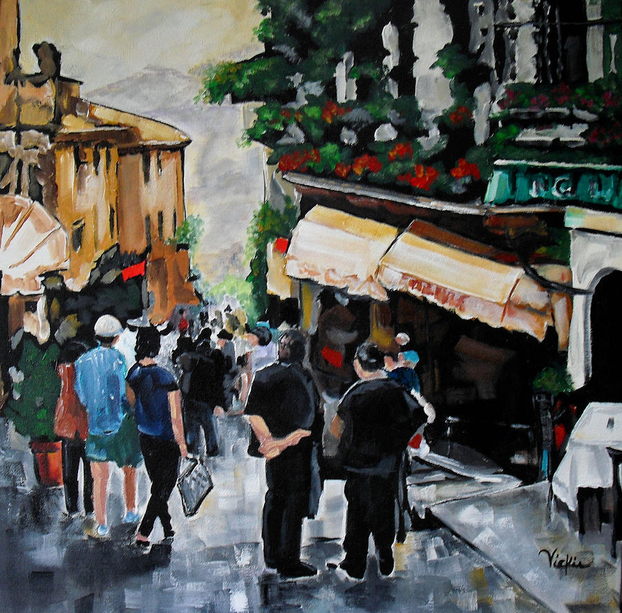 Streets Painting - Streets Of Italy by Vickie Warner