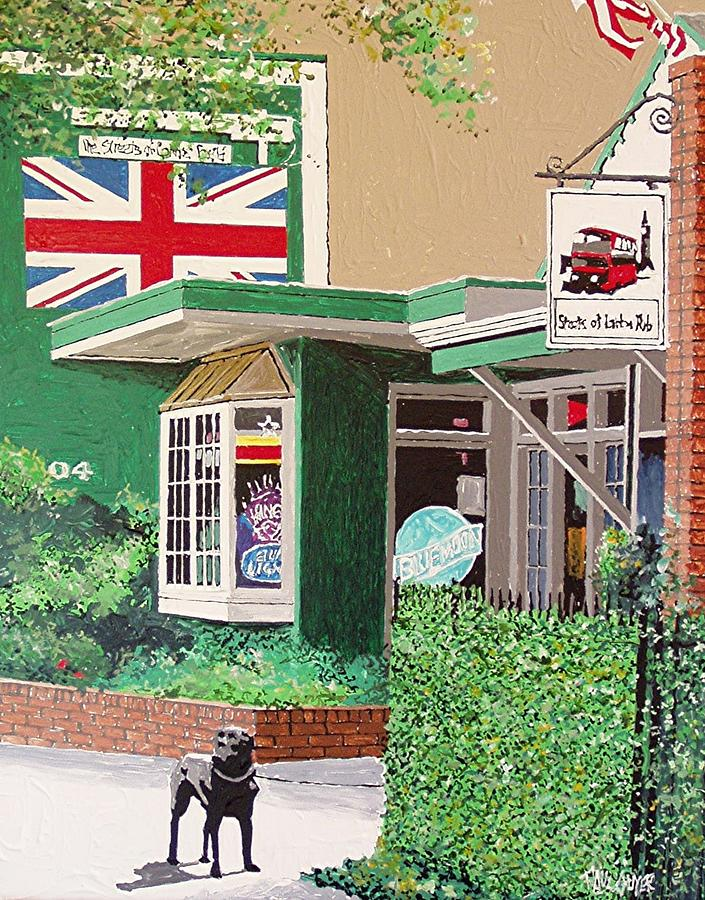 Sacramento Painting - Streets Of London Pub by Paul Guyer