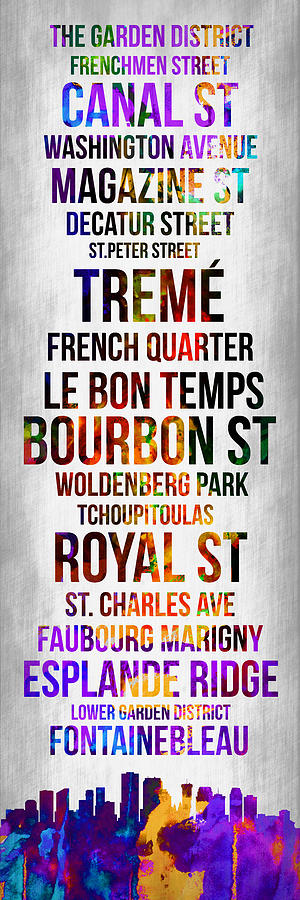 New Orleans Digital Art - Streets Of New Orleans 1 by Naxart Studio