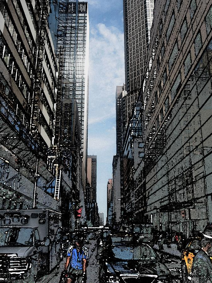 Photograph Photograph - Streets Of New York City by Mario Perez