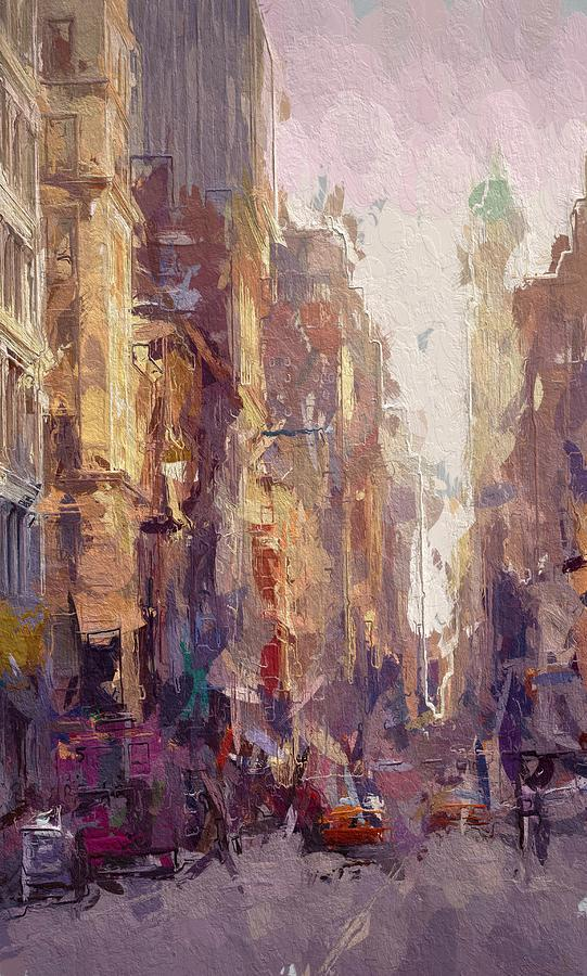 Streets Of New York Painting by Steve K