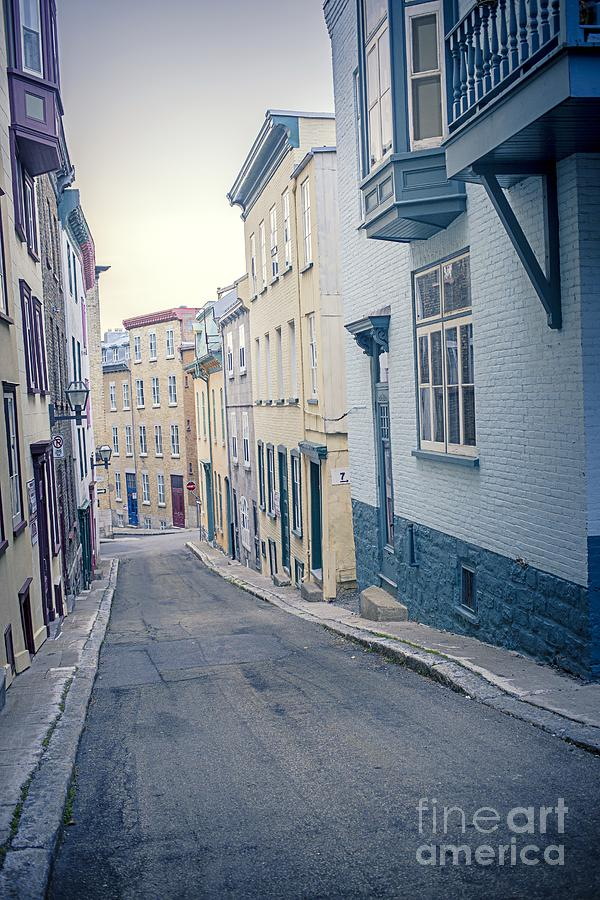 Street Photograph - Streets Of Old Quebec City by Edward Fielding
