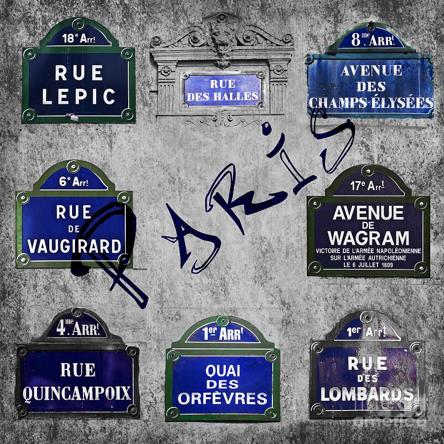 Paris Photograph - Streets Of Paris by Delphimages Photo Creations