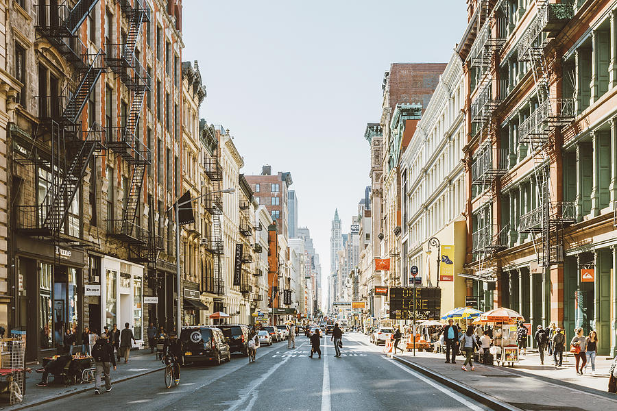 Streets Of Soho, New York City, Usa Photograph by Alexander Spatari