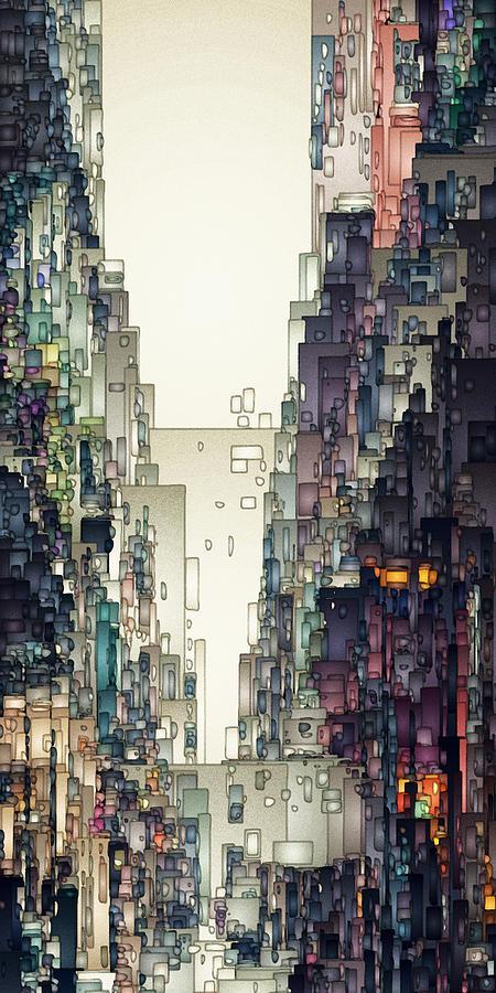 Digital Digital Art - Streetscape 1 by David Hansen