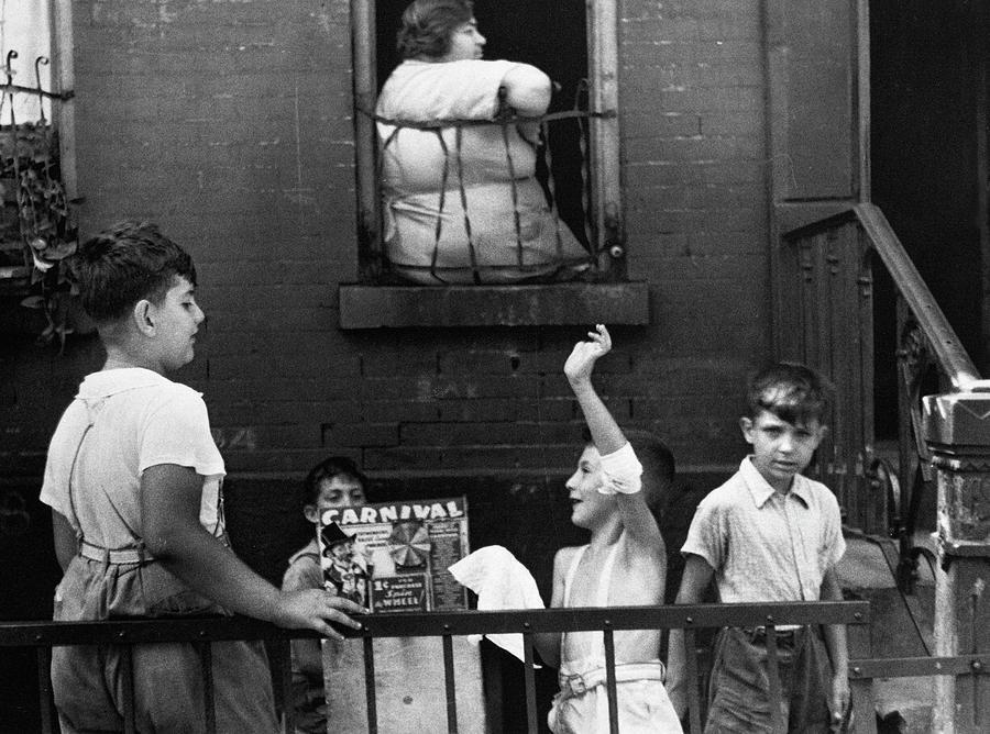 1938 Photograph - Streetside Games, 1938 by Granger
