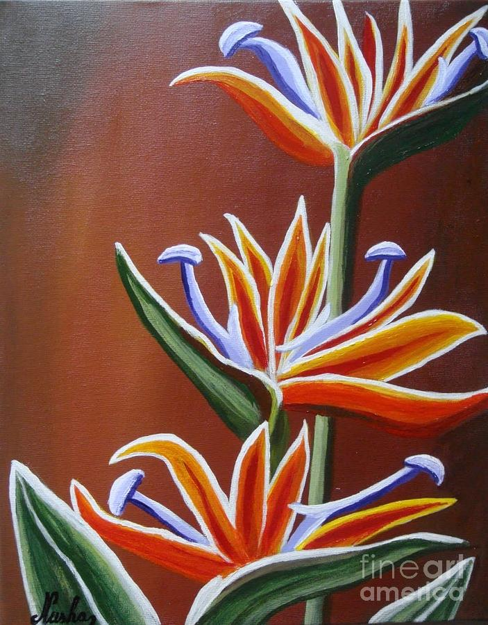 Floral Painting - Strelitzia by Elena  Constantinescu