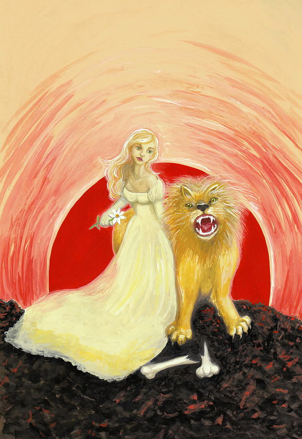Tarot Painting - Strength by Lise Slinky