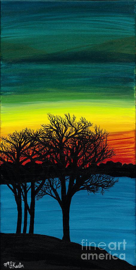 Acrylic Painting - Strength On Shore by Melissa F Kaelin