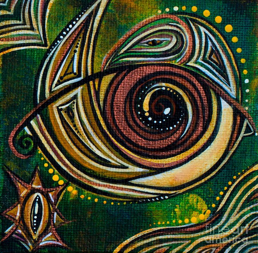 Deborha Kerr Painting - Strength Spirit Eye by Deborha Kerr