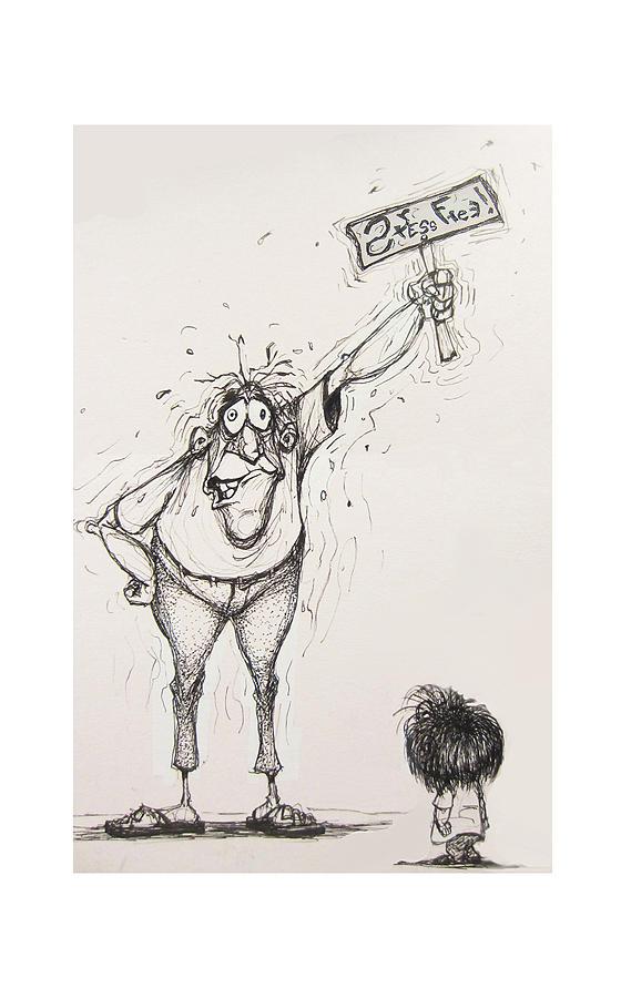 Illustration Drawing - Stress Free by Wayne Carlisi