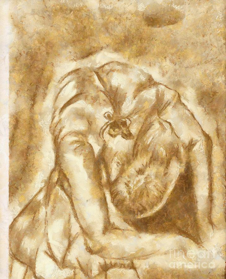 Artwork Mixed Media - Stretching Ballerina by Yanni Theodorou