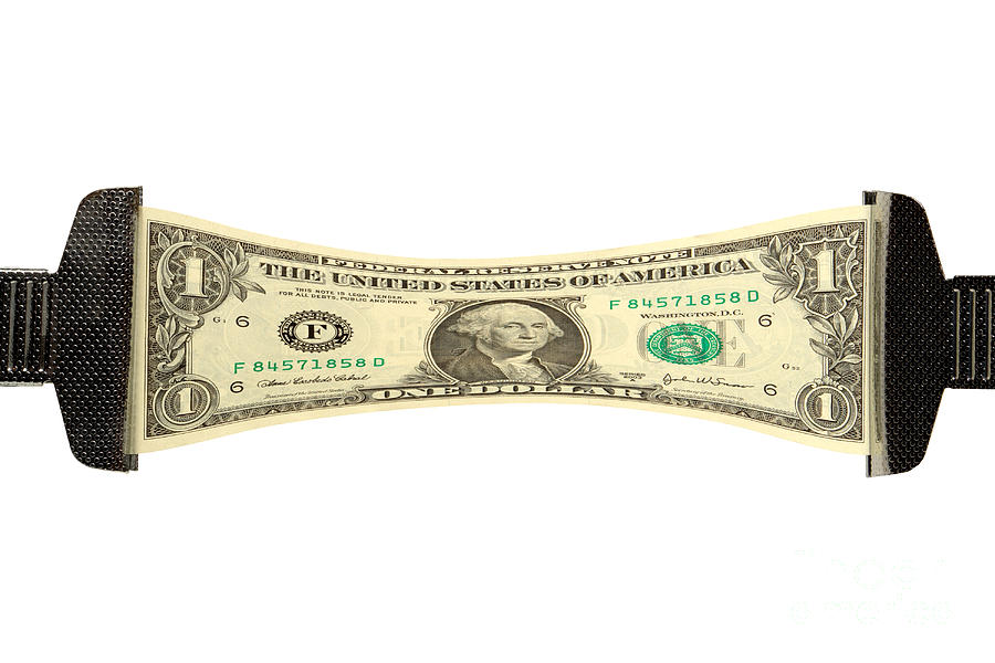 Dollar Photograph - Stretching The Dollar by Olivier Le Queinec