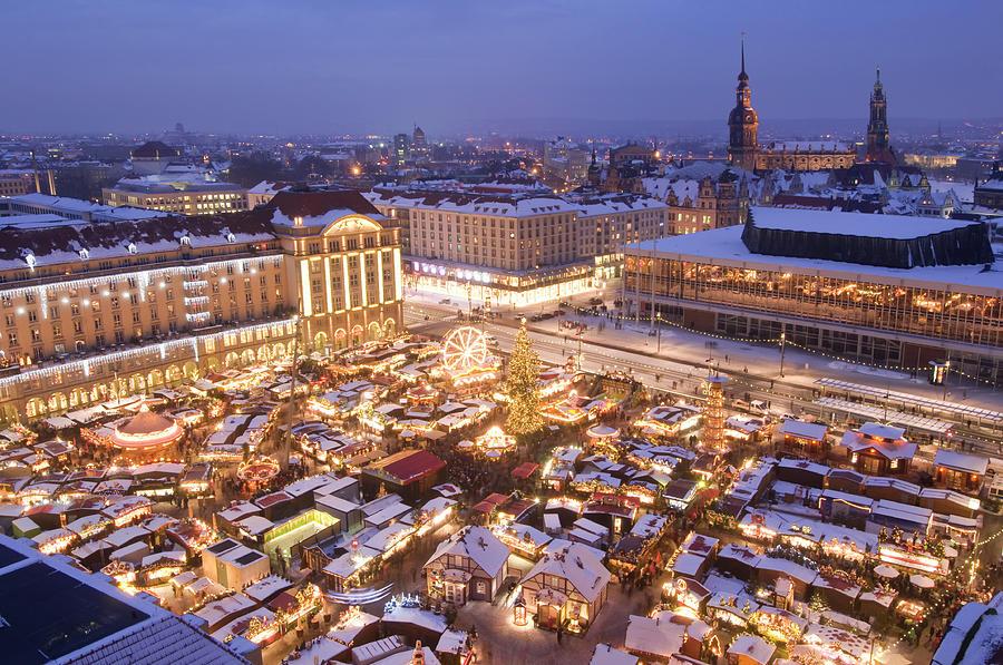 Striezelmarkt, Christmas Market In Photograph by Zu 09