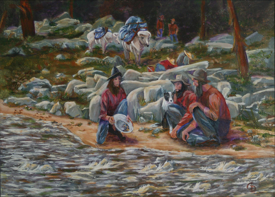 Gold Panning Painting - Strike It Rich by Gail Daley