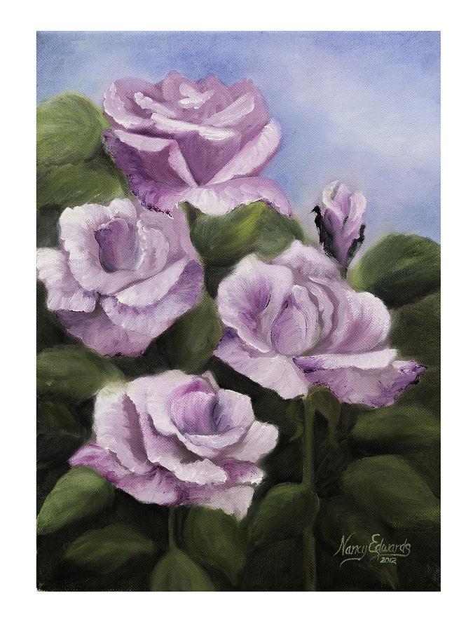 Flower Painting - Striking Pose by Nancy Edwards