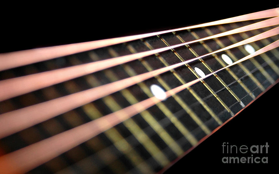 Music Photograph - String Abstract Large by Dan Holm