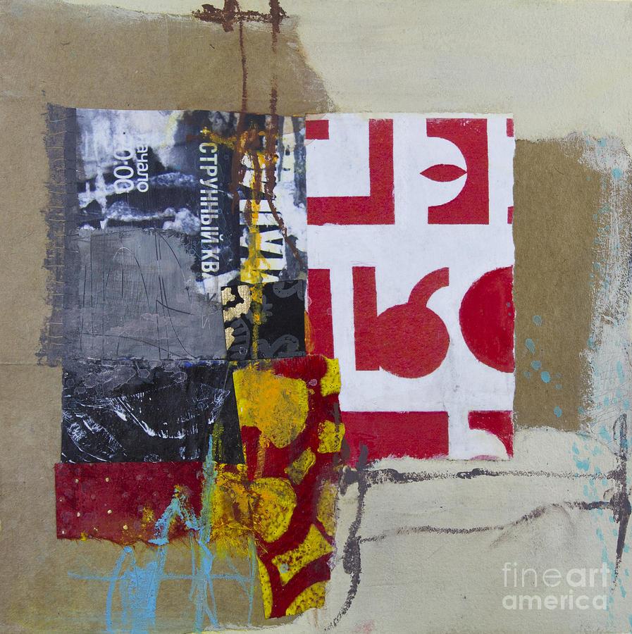 Collage Mixed Media - String Quartet by Elena Nosyreva