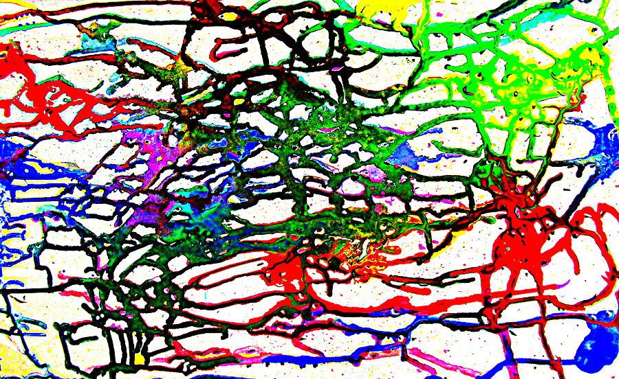 Galaxy Painting - Strings by Karunita Kapoor