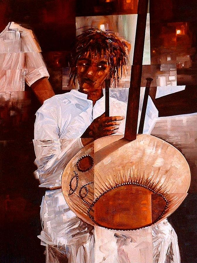 Africa Painting - Strings by Laurend Doumba