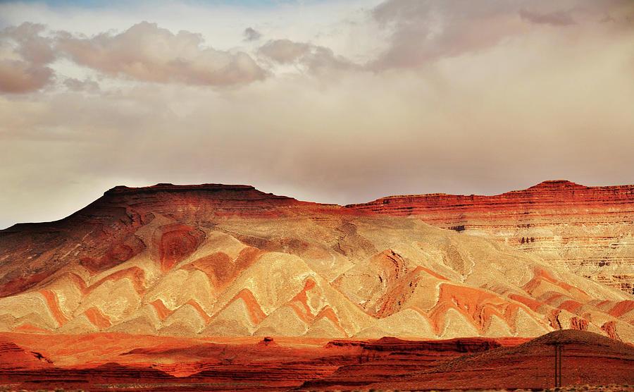 Striped Mountains Near Mexican Hat Utah Photograph by Utah-based Photographer Ryan Houston