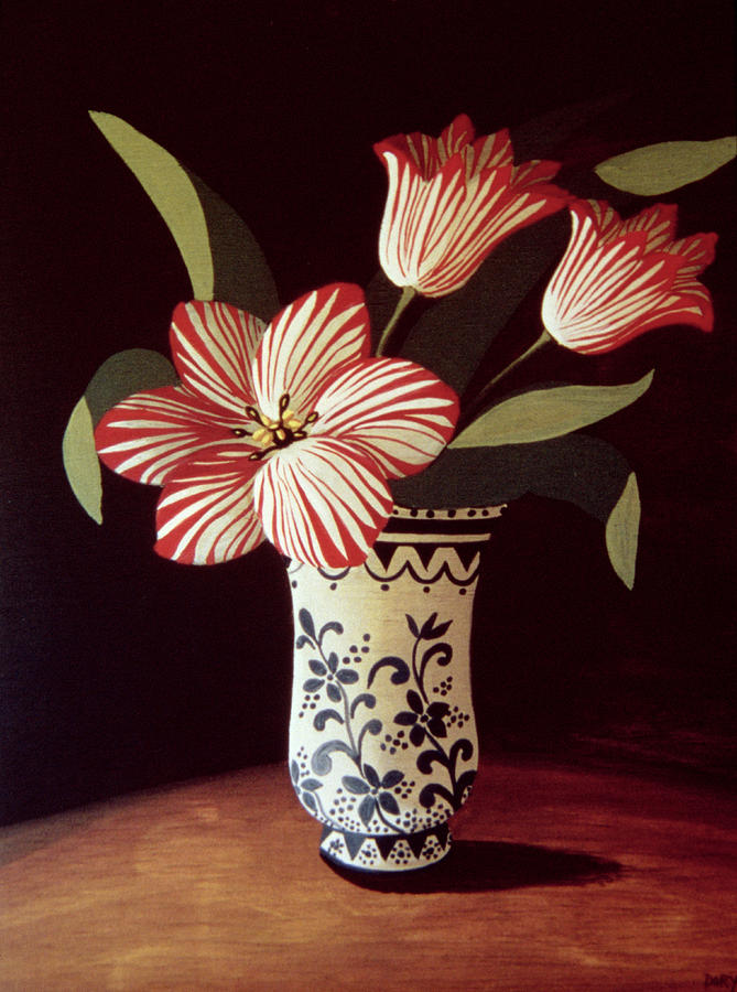 Nice Painting - Striped Tulip  by Dory Coffee