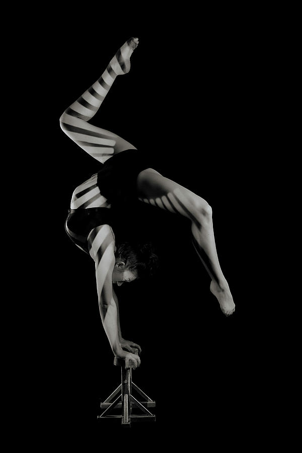 Gymnast Photograph - Stripes by Howard Ashton-jones