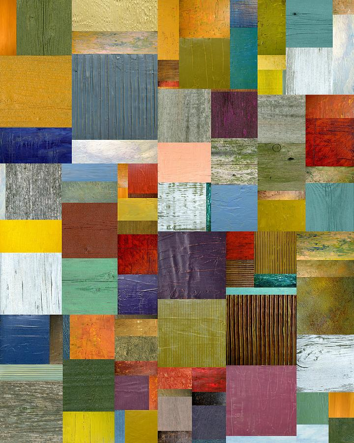 Textural Painting - Strips And Pieces Vl by Michelle Calkins