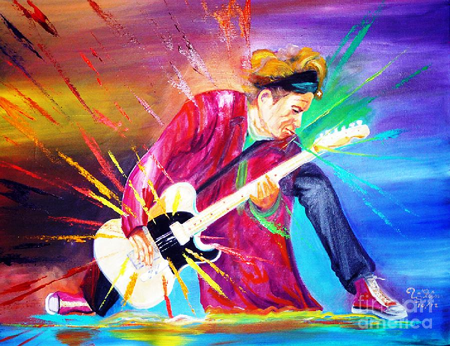 Keith Richards Painting - Stroking by To-Tam Gerwe