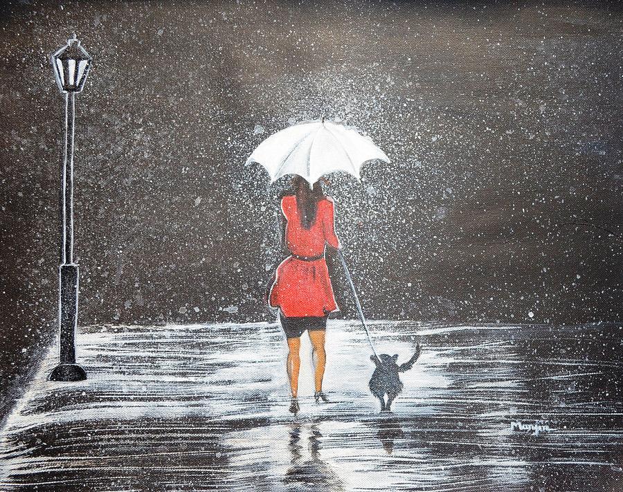 A Walk In The Rain Original Painting