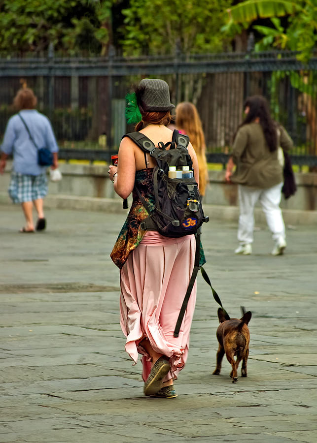 French Quarter Photograph - Strolling In Jackson Square by Steve Harrington