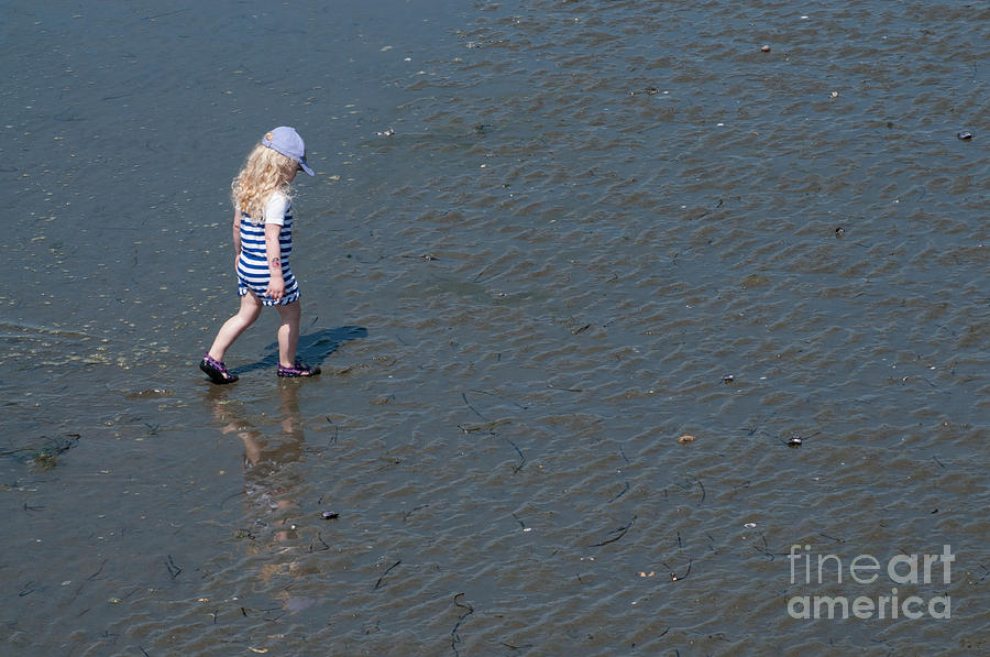 Beach Photograph - Strolling On The Beach by Malu Couttolenc