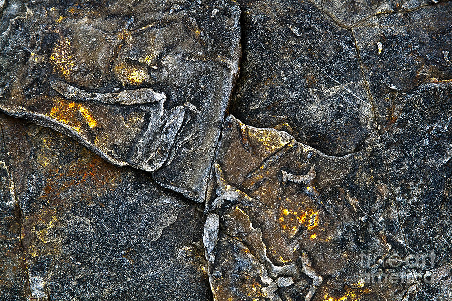 Stone Photograph - Structural Stone Surface by Heiko Koehrer-Wagner