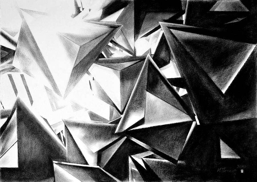 Drawing Drawing - Structure Invasion by Iliyan Bozhanov