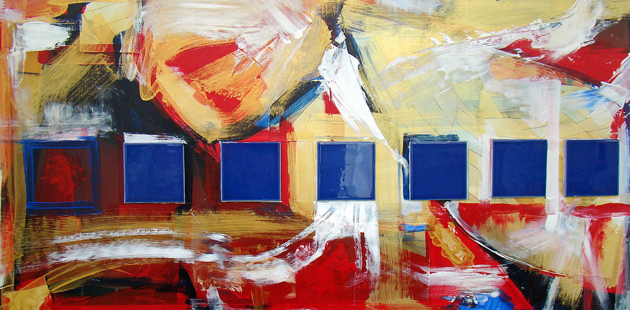 Abstract Design Painting - Structure No 6 by Walter Fahmy