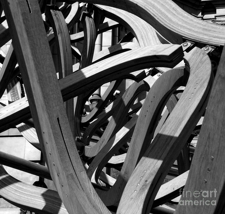 Photo Pyrography - Structure by Tom Gallahue