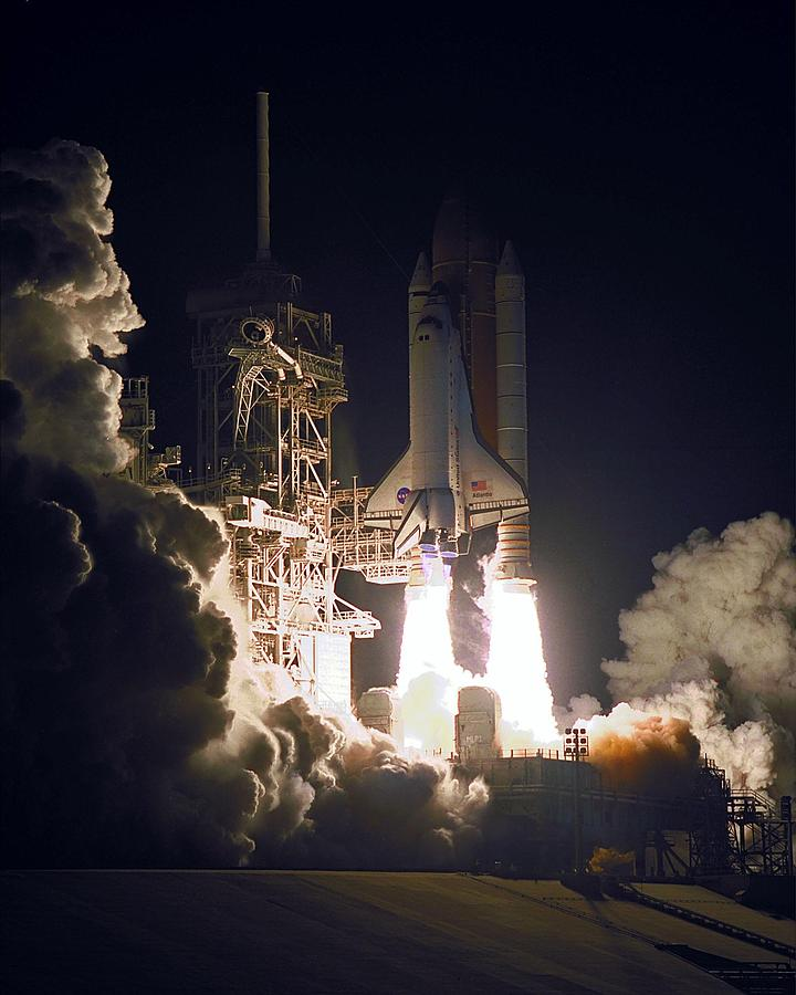Astronomy Photograph - Sts-101, Space Shuttle Atlantis, 2000 by Science Source