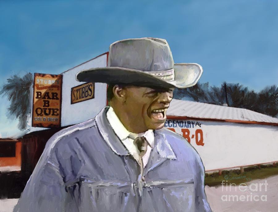 Stubb's Bar B Q Painting - Stubbs by GCannon