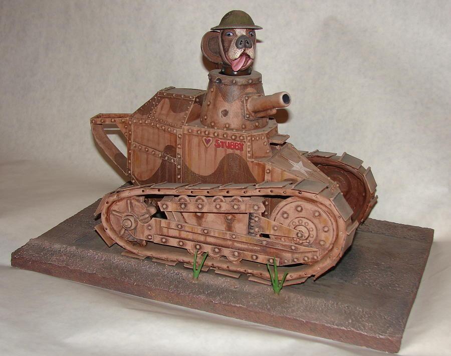 Tank Sculpture - Stubbys Tank by Stuart Swartz