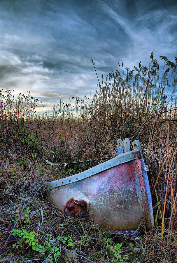 Sunken Photograph - Stuck In The Marsh by Michael  Ayers