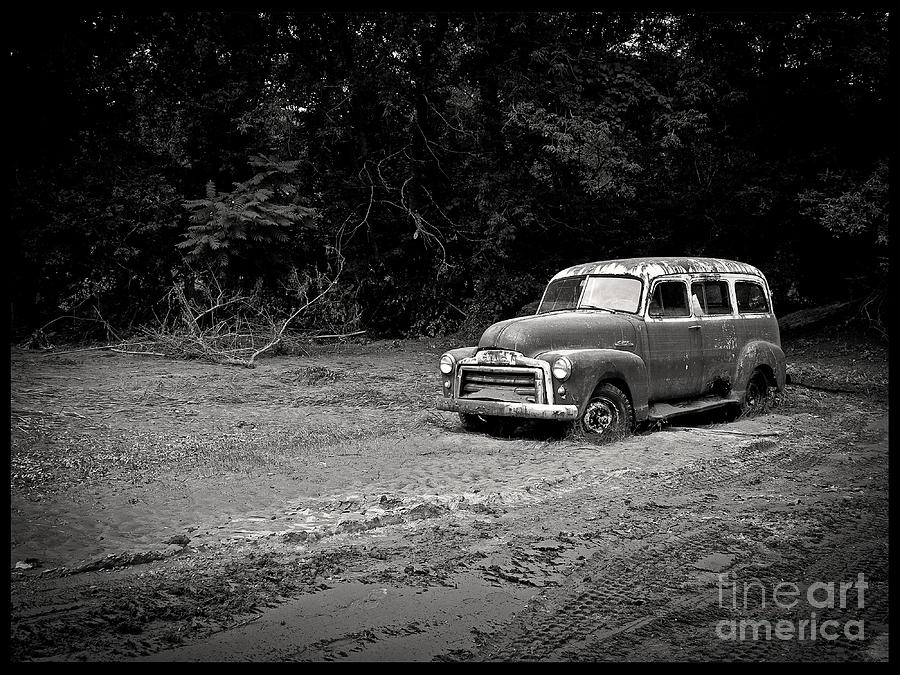 Vintage Photograph - Stuck In The Mud by Edward Fielding