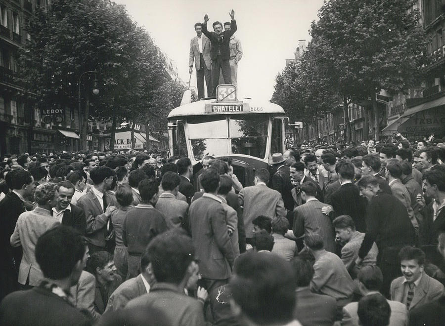 Retro Photograph - Student Clash With Police Is Boisterous Demonstration by Retro Images Archive
