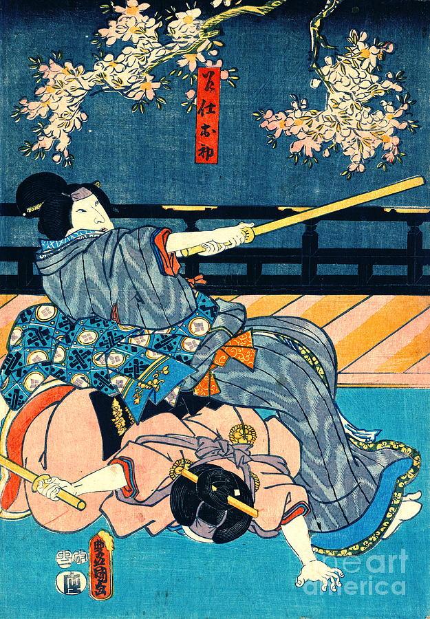Ukiyo-e Photograph - Student Ninjas 1855 by Padre Art
