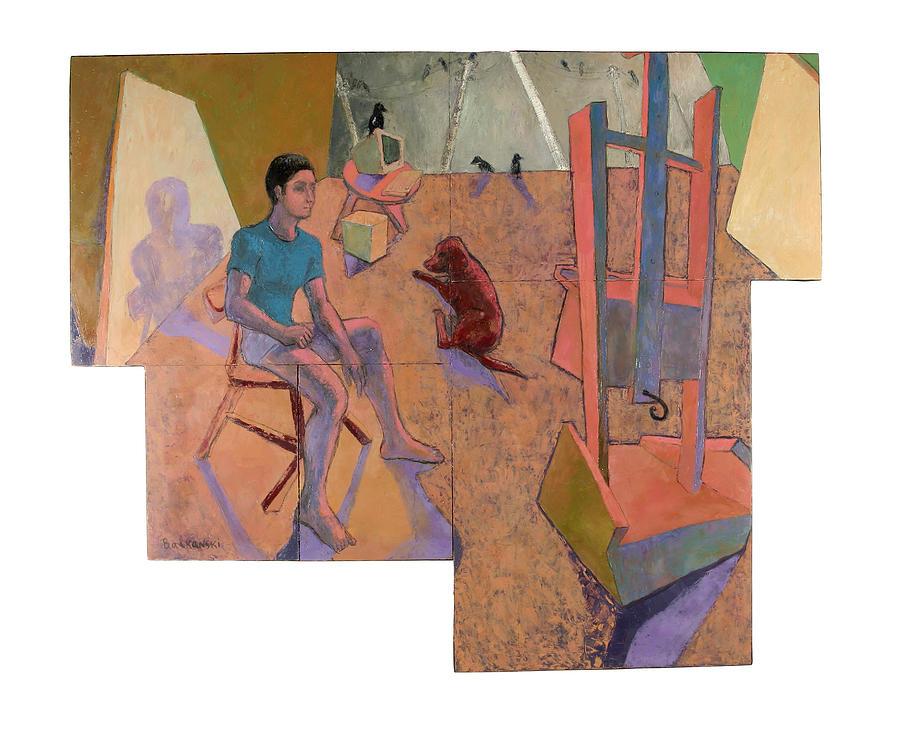 Figure Painting - Studio by Nenko Balkanski