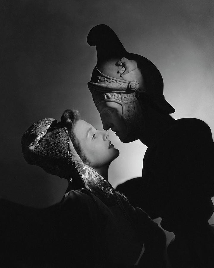 Studio Portrait Of Constance Moore And A Greek Photograph by Horst P. Horst