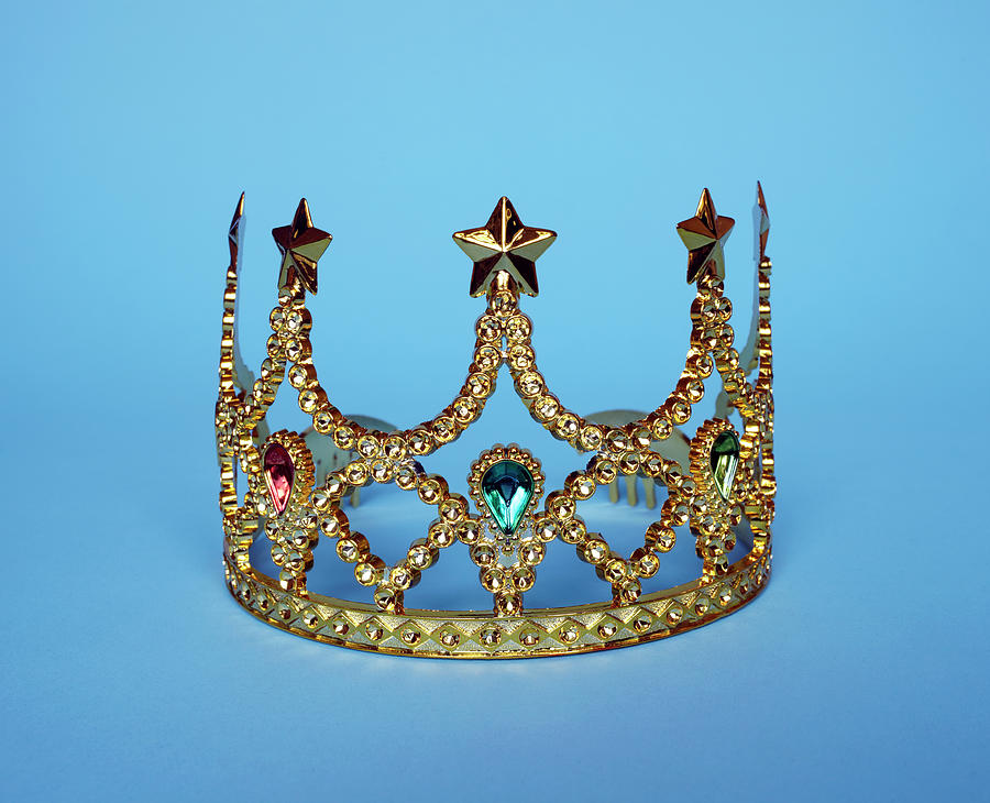 Studio Shot Of Gold Tiara Photograph by Winslow Productions