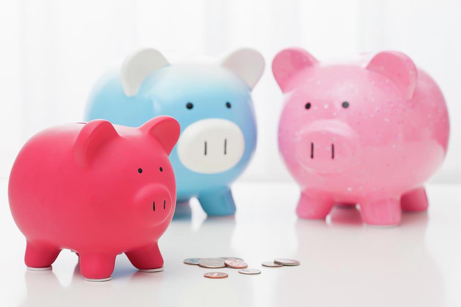 Studio Shot Of Piggy Banks Photograph by Vstock Llc