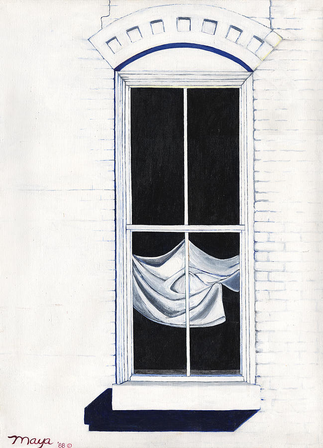 New Mexico Painting - Studio Window by Illusions Maya